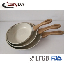 Large marble coating aluminium pan cookware set