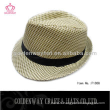 Casual Fedora Style Panama Look straw hat paper high quality hats