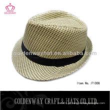 Casual Fedora Style Panama Look chapéu de palha chapéus de alta qualidade de papel