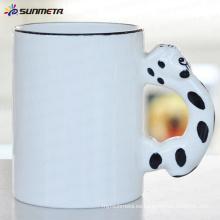 Sublimación Animal taza de perro en blanco