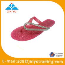 2014 hermosos zapatos de cristal de pvc