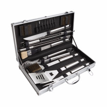 18 Piece Barbecue Tool Set with Aluminum Carrying Case