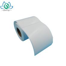 Etiqueta autoadesiva do papel semi lustroso do preço de fábrica para enviar