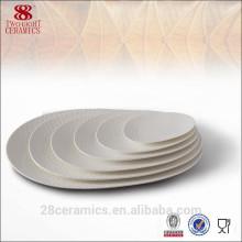 2015 Egg Shape Banquet Utilisé Blanc Relief