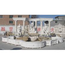 Fuente de jardín con material de granito de mármol de piedra (SY-F261)