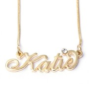 2014 New Fashion Alloy Name Necklace of High Quality (FQ-1242)