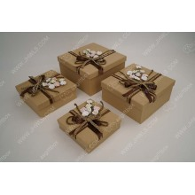 Butterfly Flower Square Gift Box