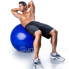 Fit Yoga Anti-Burst Gymnastikball mit Pumpe und Ball-Basis