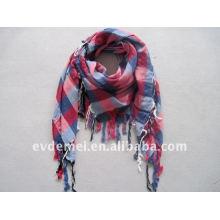 Classical viscose men's plaid scarf square