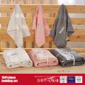 O fundamento de linho de 100% ajustou-se com lavagem de pedra na cor cinzenta, branca, cor-de-rosa