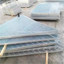 Piso / plataforma de aço galvanizado de prata da barra de aço