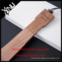 Feito de gravata de madeira magro elegante Handmade Redwood recuperada