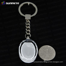 sublimation crystal advertising gift keychain sunmeta factory directly