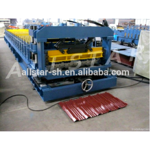 blue color and effective width 1000mm of glazed tile roll forming machine