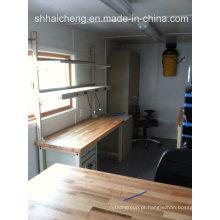 Casa viva modular do recipiente da casa pré-fabricada do bloco liso