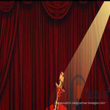 china fiber optic lighting stage curtain