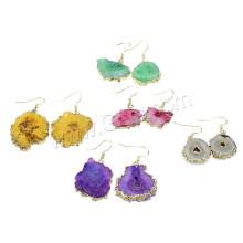 2015 Gets.com brass druzy stones earrings wholesale