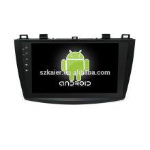 Quatro núcleos! Android 6.0 carro dvd para MAZDA 3 velho com 9 polegadas tela capacitiva / GPS / Link Mirror / DVR / TPMS / OBD2 / WIFI / 4G