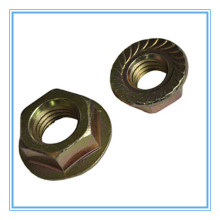 Carbon Steel Flange Nut with Yellow Zinc Plated