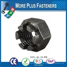 Made in Taiwan Metric Coarse Slotted Castellated Hex Zinc Castle Nut