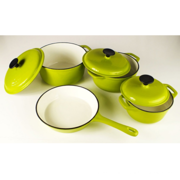 Useful Cast Iron cook pot with four pieces