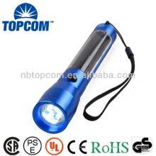 Aluminio 4led Ni-MH batería linterna solar