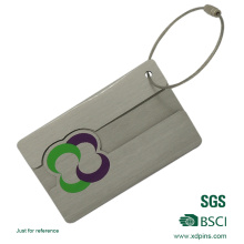 Etiqueta de la identificación del equipaje del metal de encargo de encargo de la venta caliente