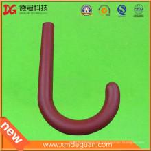 Venta caliente al por mayor rojo plástico bolsa percha