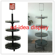 Wooden Round Display Stand for Wine