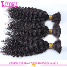 Fashion 2015 Bulk Hair Unprocessed Deep Curly Virgin Indian Hair Weave In Bulk