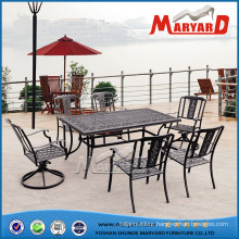 Dining Table 6 Chairs Set Outdoor Lawn Yard Garden Furniture