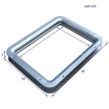 Paneles de visión cuadrados de acero dulce de alta calidad para puertas cortafuego
