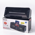 WSTER WS1619 Support USB TF CARD FM RADIO Speaker Wireless Speaker With Big Bass With Solar