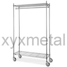 Commercial Grade Moveable Multifunction Chrome Garment Rack