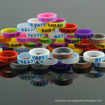 Concave Vape Band Decoración y Protección Mecánica Modos Colores Silicona Vape Band Vaporizador Band Ecig Vape Band