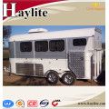 Durable two horse float living quarters CE certificate for sales angle load