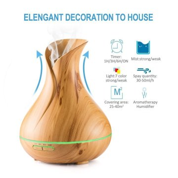 400ml Wood Electric Fragrant Aroma Essential Oil Diffuser