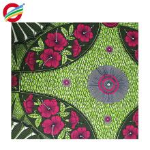 Le tissu africain coloré pur de tissu de cire de polyester imprime à vendre