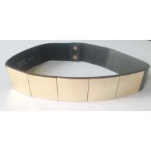 Trendy Damen-Stud-Legierung Metallkette elastische Ledergürtel