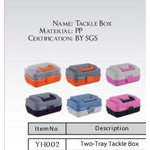 Nova caixa de equipamento de pesca plástica de duas bandejas de design