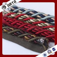 Hangzhou Taojin Têxtil Corda decorativa para cortina tieback decoração de sofá ou acessório de decoração de casa, cordão decorativo, 6mm