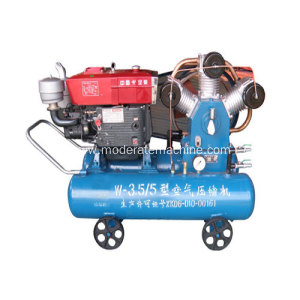 Movable Diesel Belt Driver Piston Air Compressor