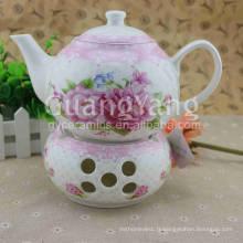 Ensemble de thé en porcelaine émaillée en porcelaine de forme différente