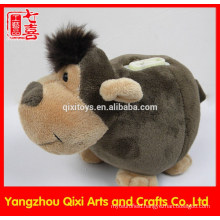 Factory china animal shaped monkey money box plush toy monkey coin bank animal money box