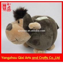 Fábrica china animal em forma de macaco caixa de dinheiro macaco de brinquedo de pelúcia moeda banco animal caixa de dinheiro
