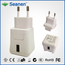 5VDC 2A White Color Travel Charger with EU/Europe AC Pin