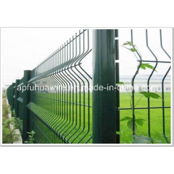 Valla de malla de alambre galvanizado y recubierto de PVC para la venta