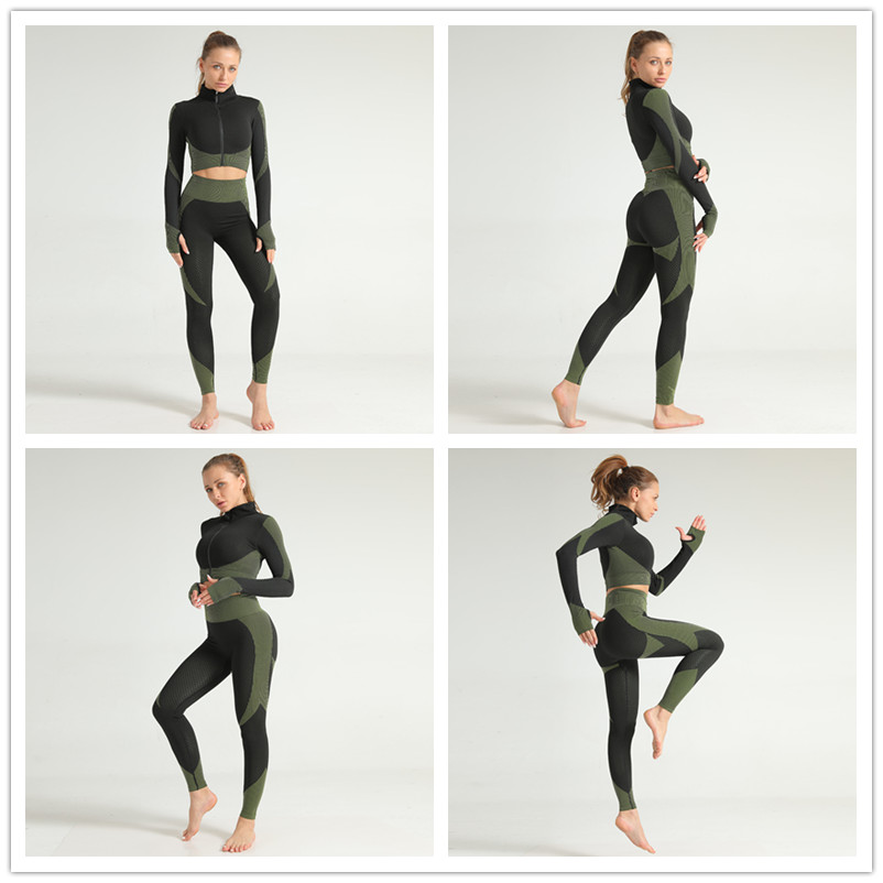 Jacquard Yoga Outfits