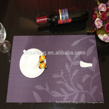 hot sale& whosale the new design leaves pvc placemat