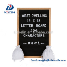Custom design 12x18inch felt letter display board with Oak frame